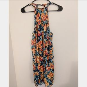 Bright floral sundress cover-up